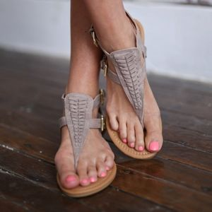 Hello Summer Sandal in Taupe